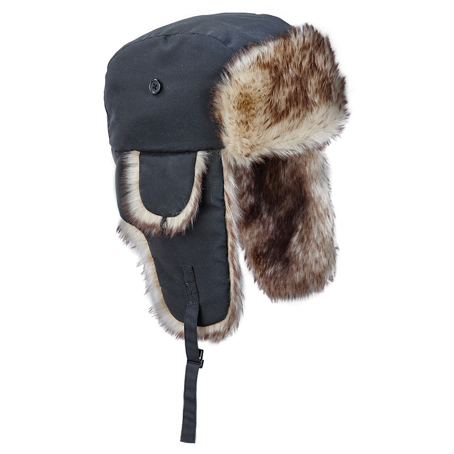 Ladies Aviator Hat with Faux Fur Trim