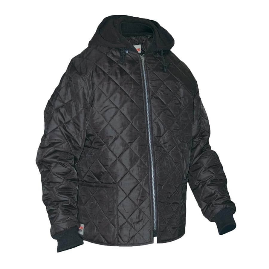 Hooded Quilted Freezer Jacket