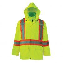 hi-viz rain jacket lime