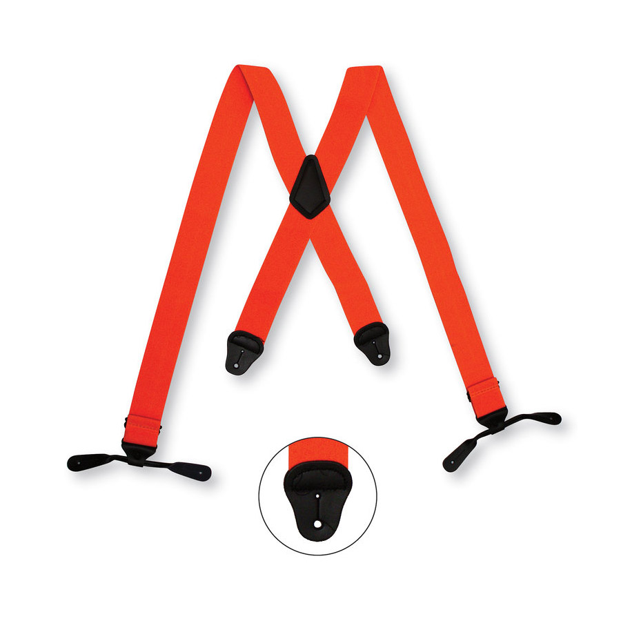 button suspenders orange