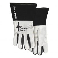 gander brand black and white welding gloves