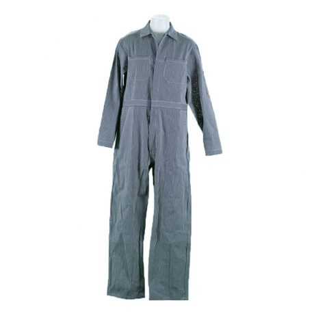 striped engineer coverall
