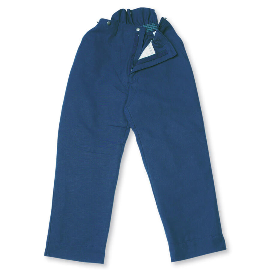 100% cotton duck chainsaw fallers pants blue