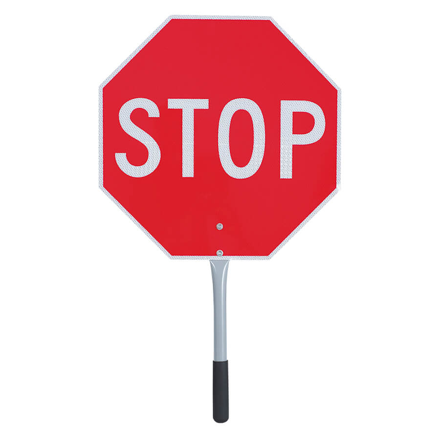stop signslow sign for jobsite