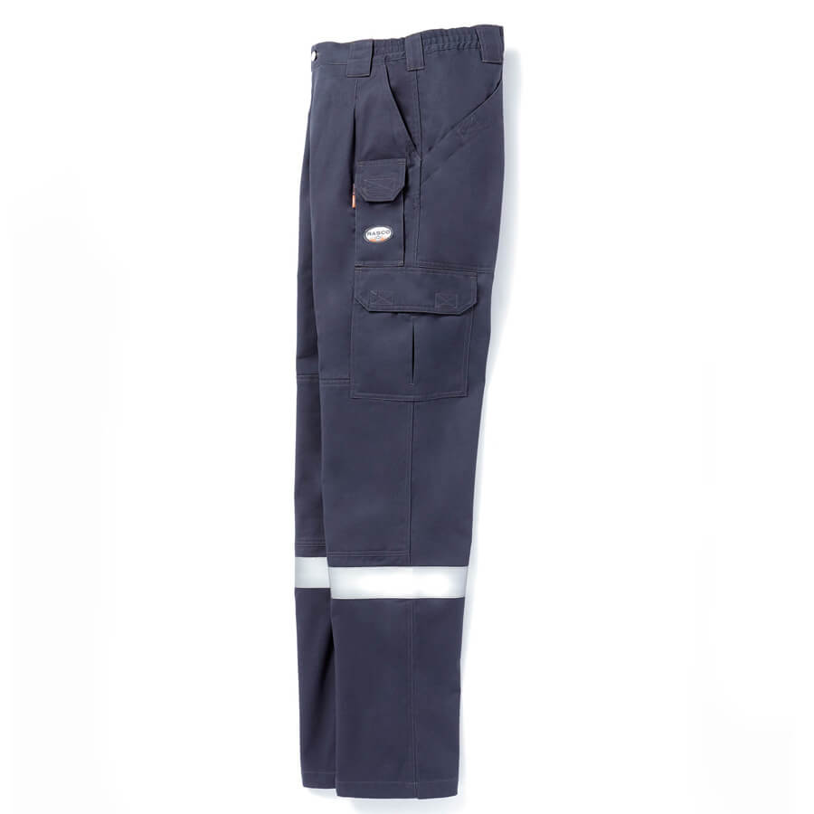 side view navy fr pants