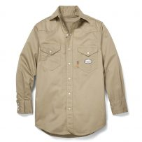 khaki lightweight fr work shirt