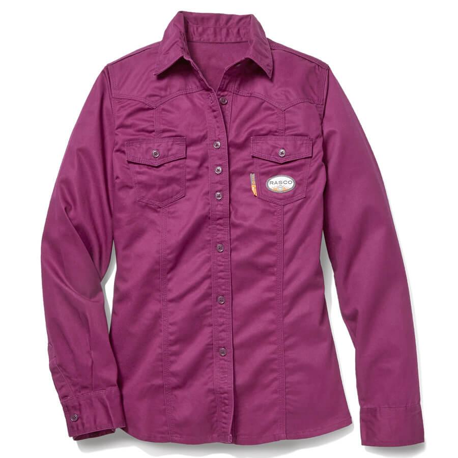 pink ladies fire resistant work shirt