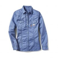 Women's Flame Resistant FR Blue Khaki Shirt