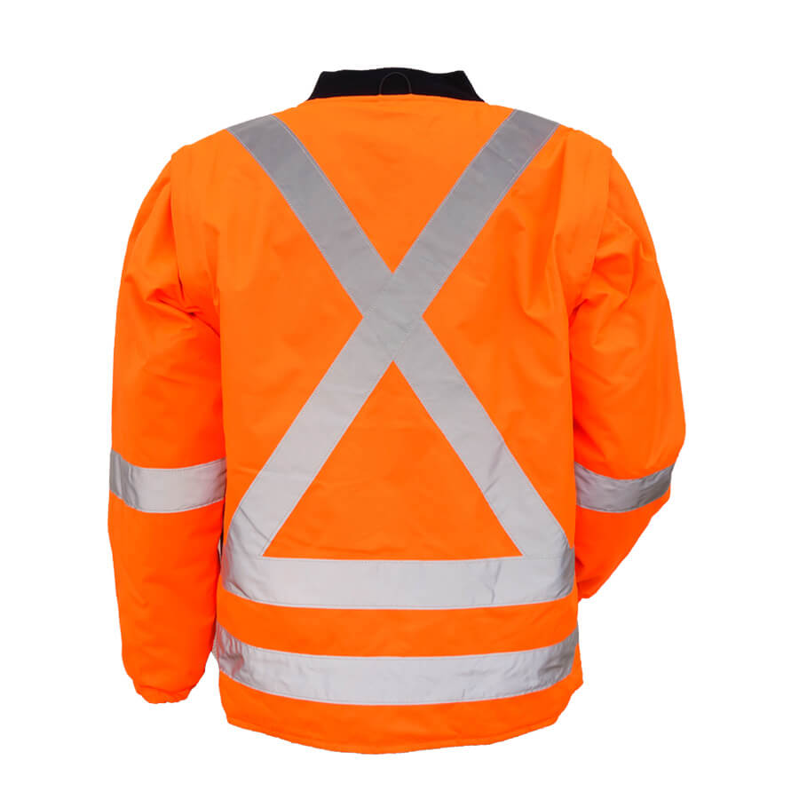 5-in-1 hi-viz orange jacket