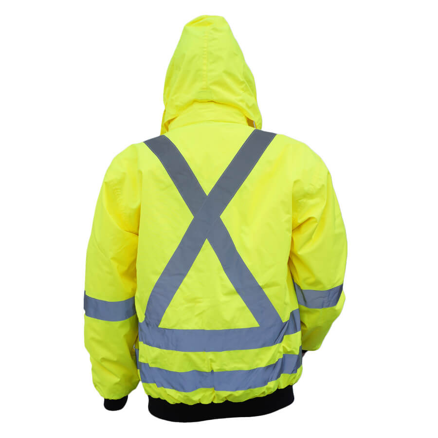 5-in-1 hi-viz lime with hood