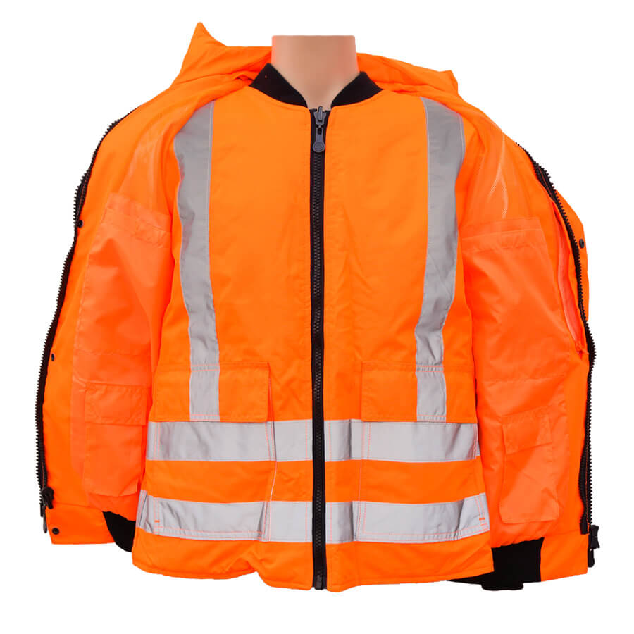 5-in-1 hi-viz winter jacket inside pockets