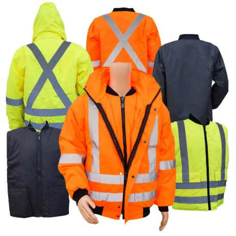 3-in-1 or 5-in-1 hi viz winter jacket with multiple colors