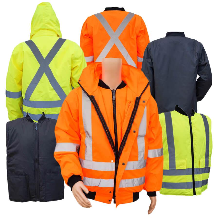 5 In 1 Hi Viz Winter Jacket Class 2 Level 2 Direct Workwear