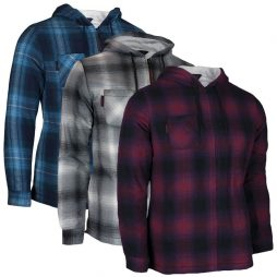 ladies flannel hooded jacket