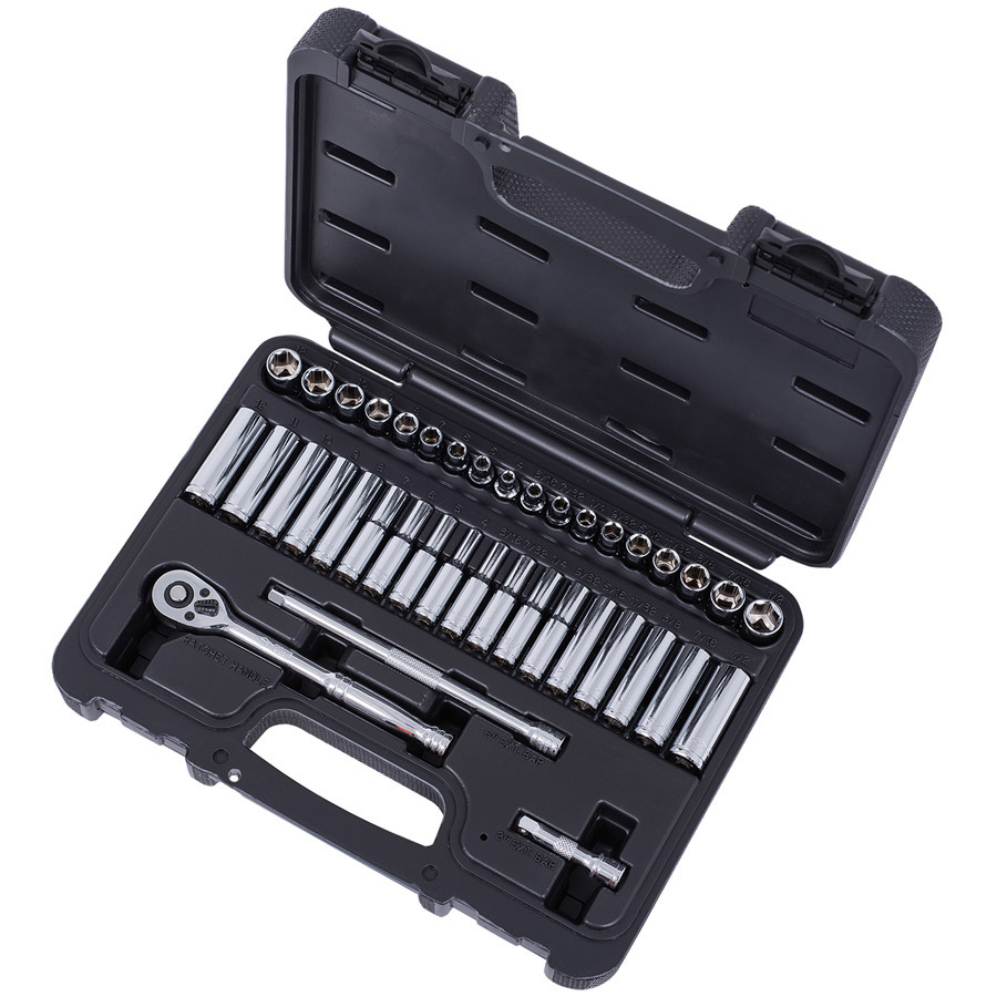 "40 PC 1/4"" Drive S.A.E. / Metric Socket Set"