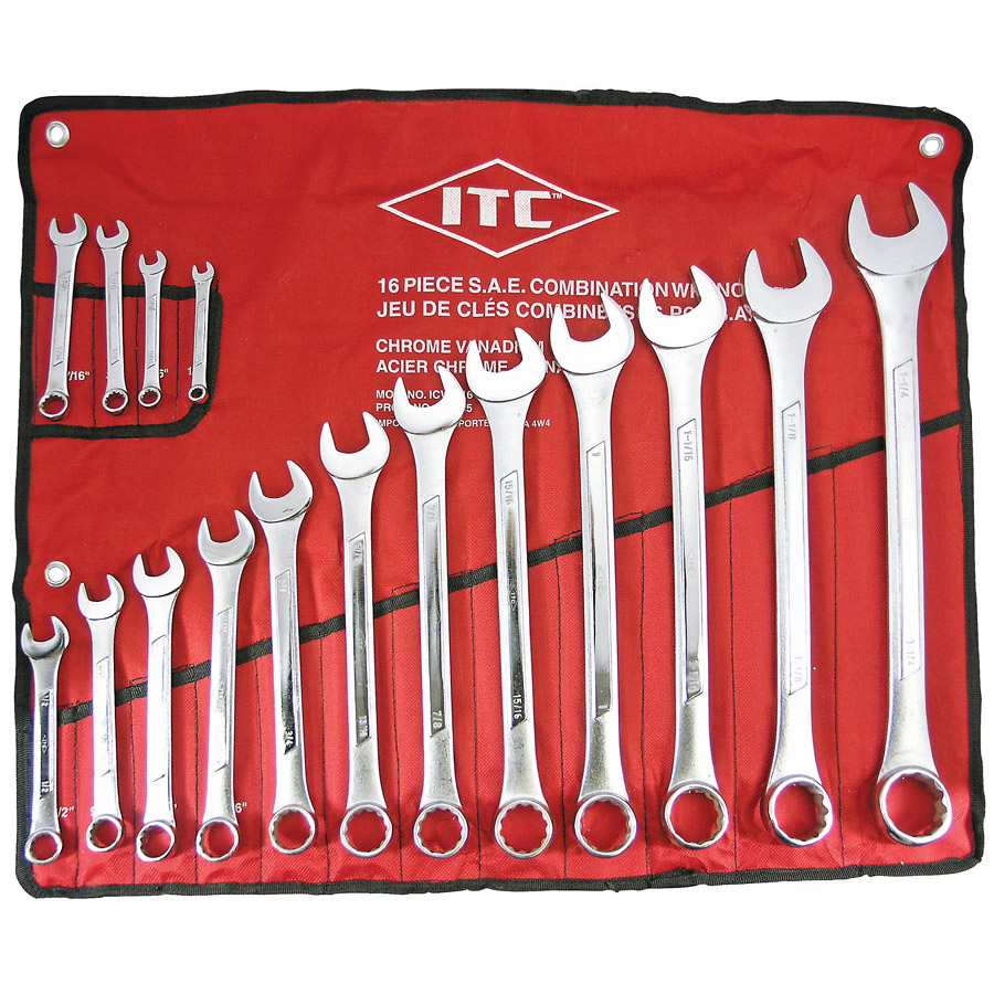 16 PC S.A.E. Combination Wrench Set