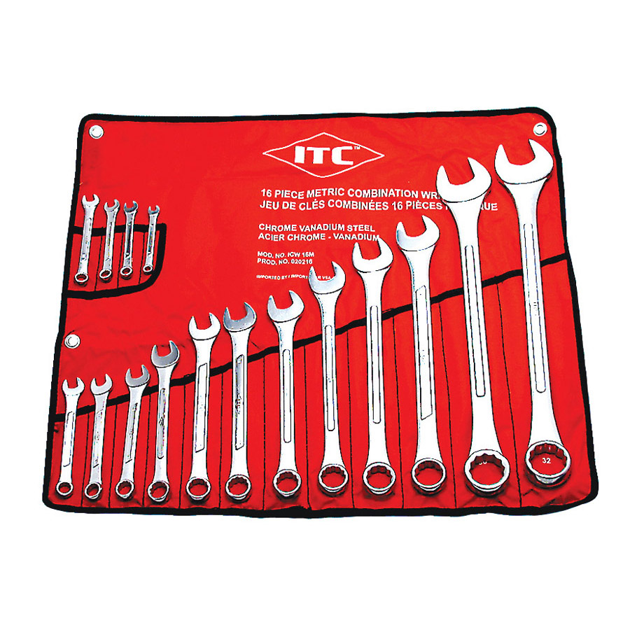 16 PC Metric Combination Wrench Set