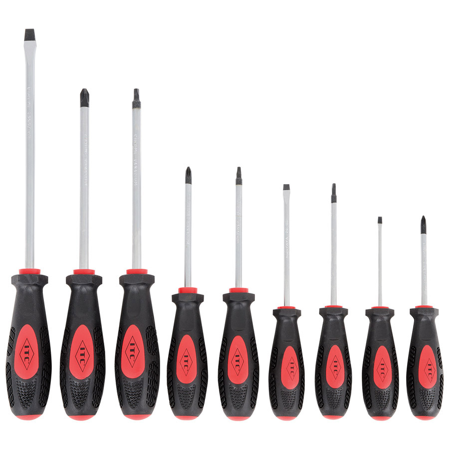9 PC Ergonomic Screwdriver Set