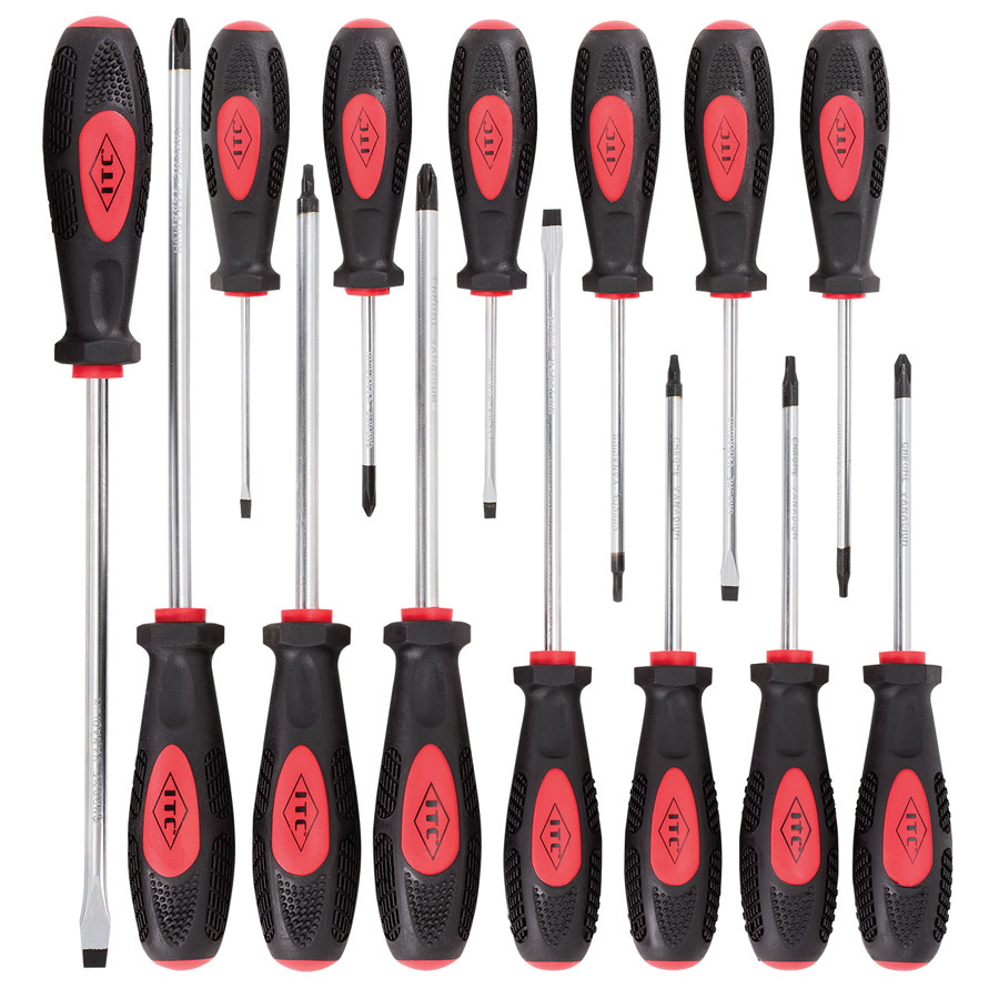14 PC Ergonomic Screwdriver Set