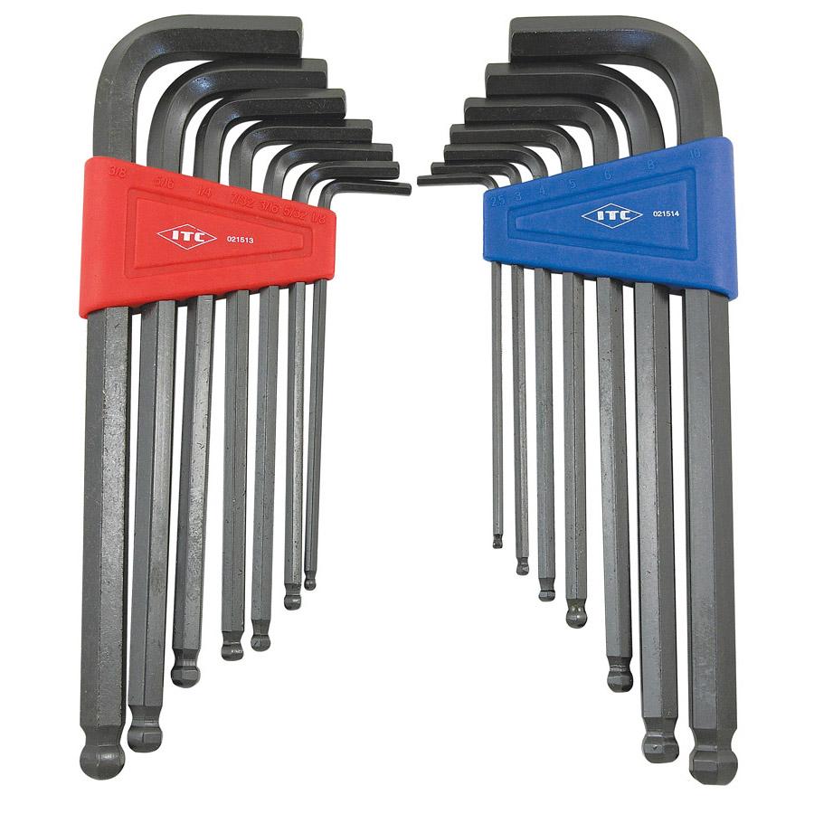 14 PC S.A.E. / Metric Ball Nose Hex Key Set