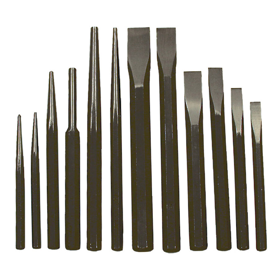 12 PC Jumbo Punch and Chisel Set