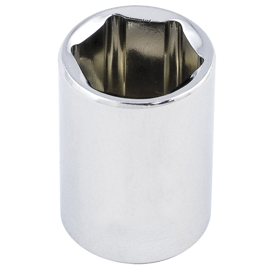 "1/2"" DR x 1"" Regular Chrome Socket - 6 Point"