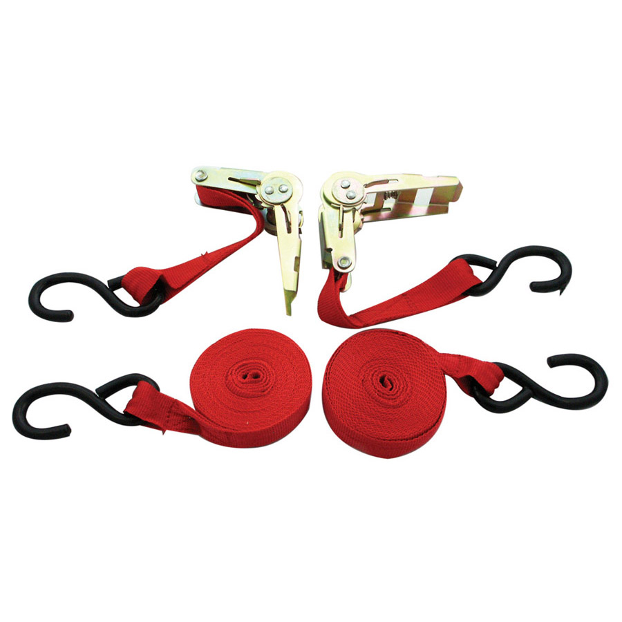 "1"" x 15' 1,500 lb Ratchet Tie Down Set"