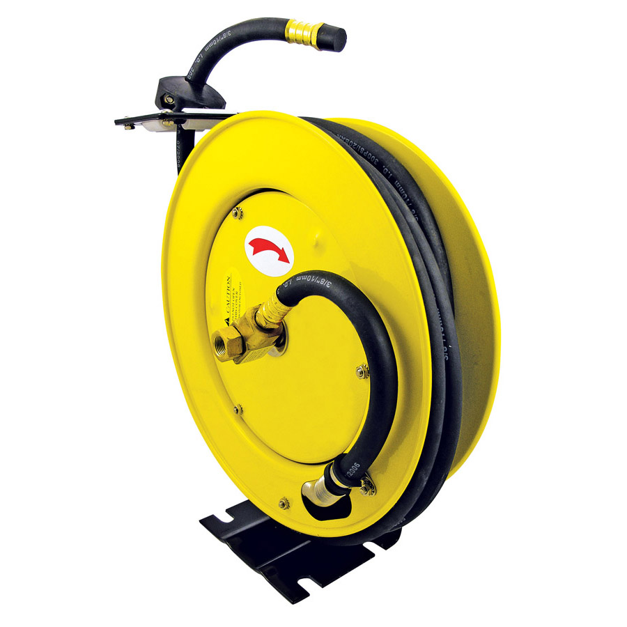 "3/8"" x 25' Retractable Air Hose Reel - Metal"