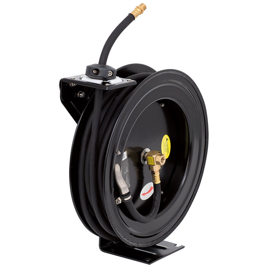 "3/8"" x 50' Retractable Air Hose Reel - Metal"