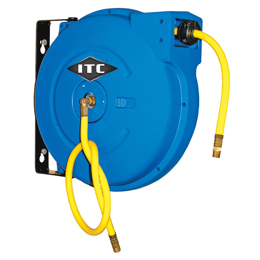 "3/8"" x 50' Retractable Air Hose Reel - Polypropylene"