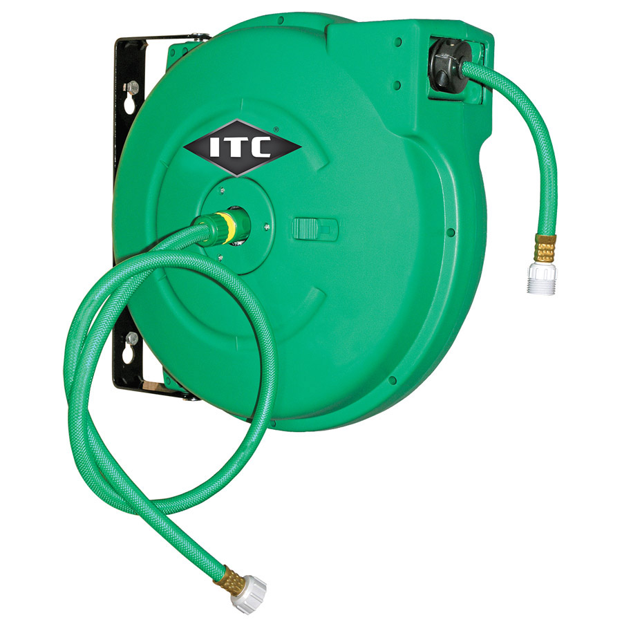 "1/2"" x 65' Retractable Water Hose Reel - Polypropylene"
