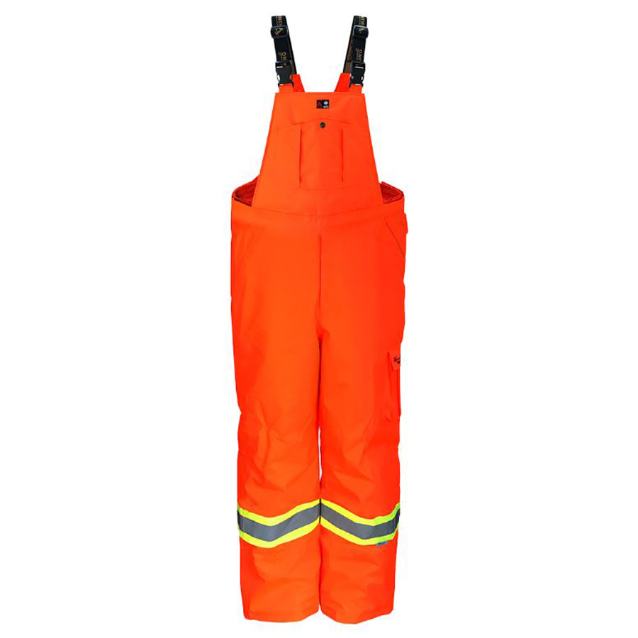 flame resistant hi viz Insulated Bib Overalls by Alliance