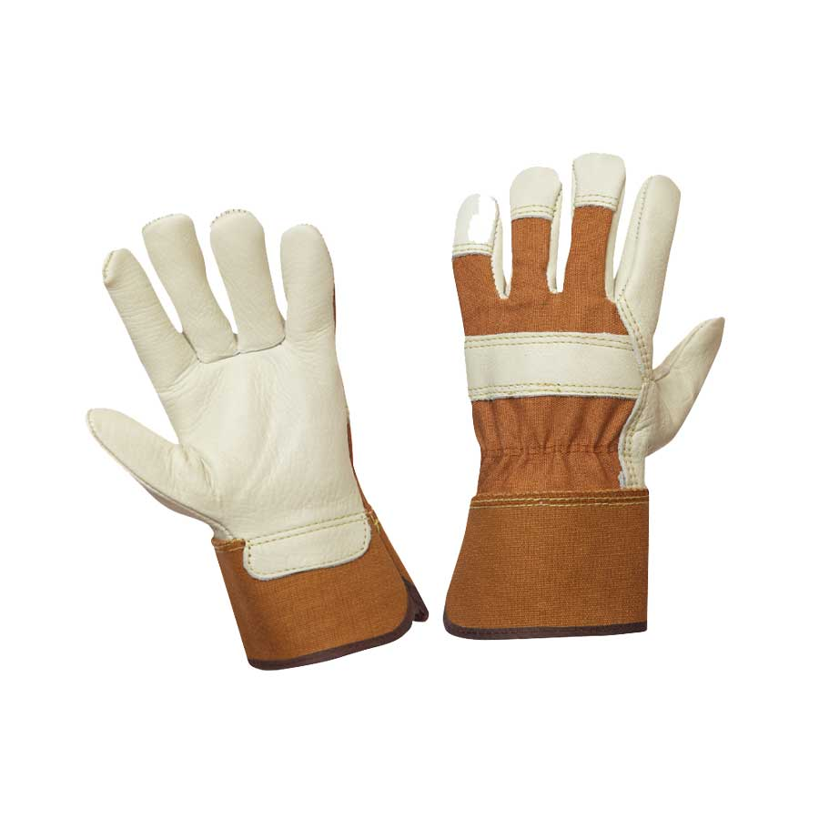 Ladies Fitters Gloves Brown and White