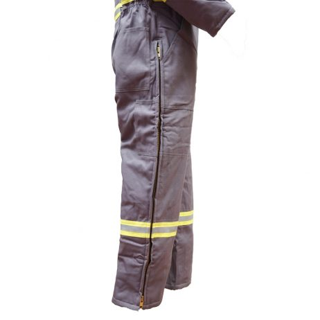 grey fr insulated coveralls side zipper