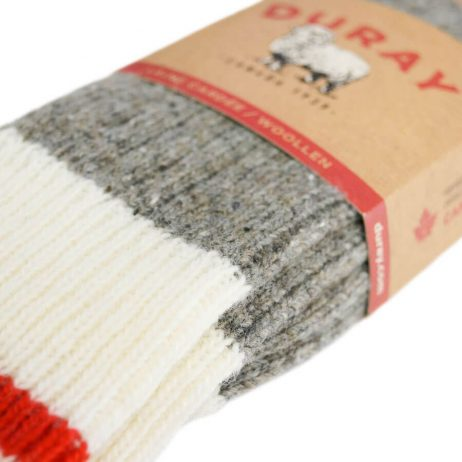 duray socks grey white red