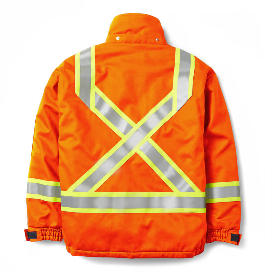 bomber jacket fire resistant orange back