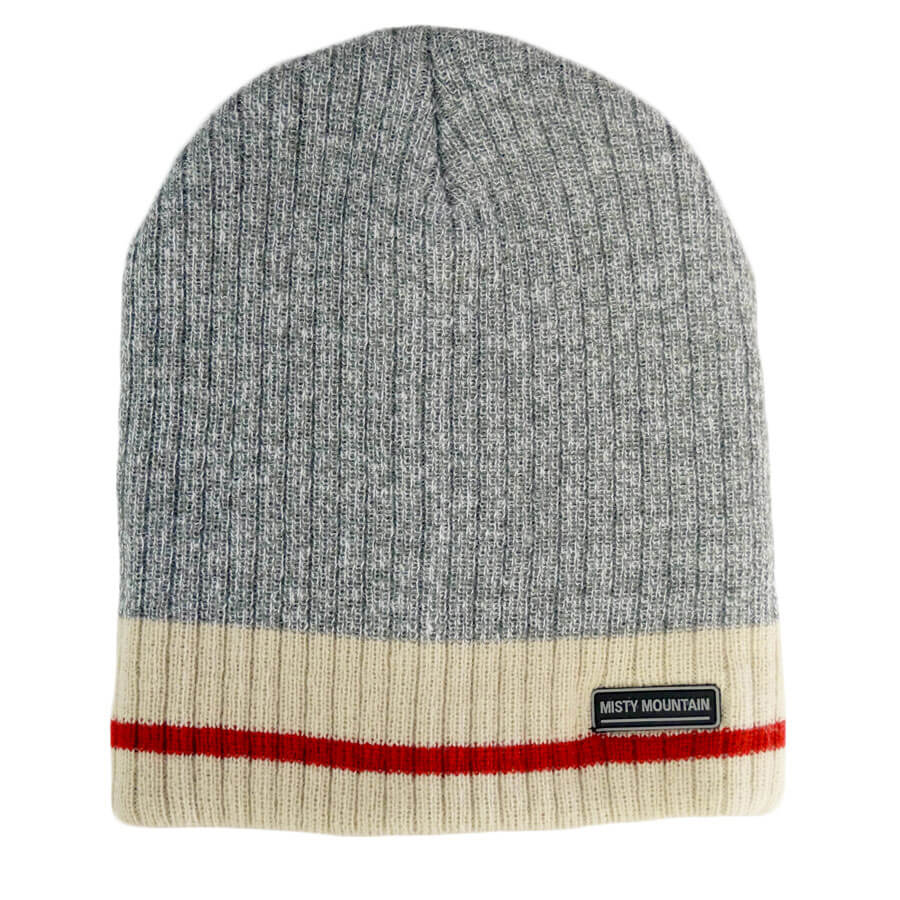 4 layer grey sock beanie toque