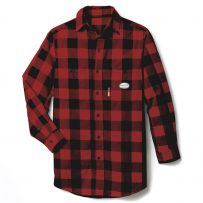 red and black plaid fr fire resistant shirt