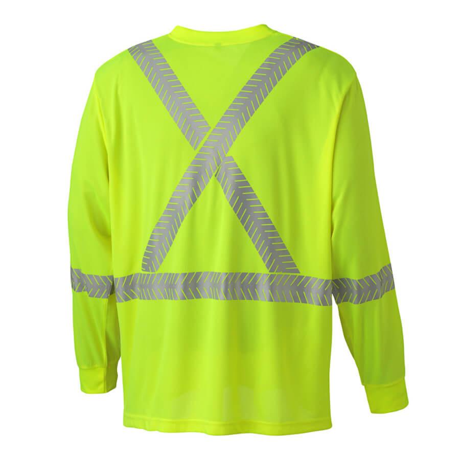 ultra cool, ultra breathable, long sleeved shirt hi-viz yellow
