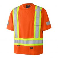 birdseye hi-viz orange safety shirt