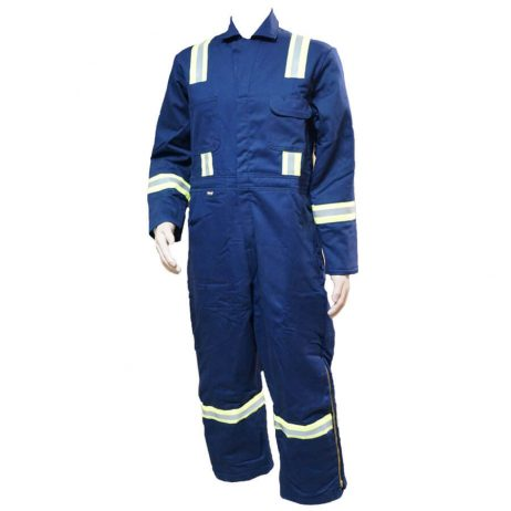 Navy blue fire resistant coveralls
