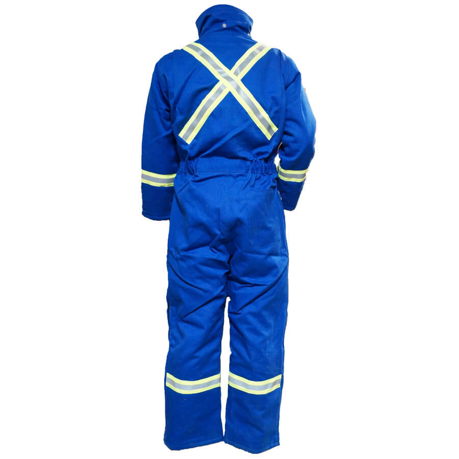royal blue insulated fire resistant coveralls