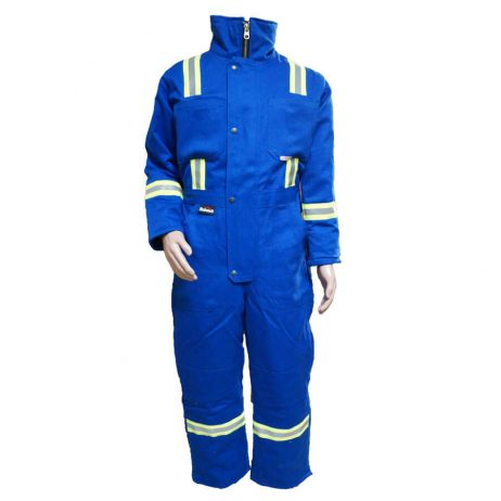 royal blue insulated fire resistant fr coveralls