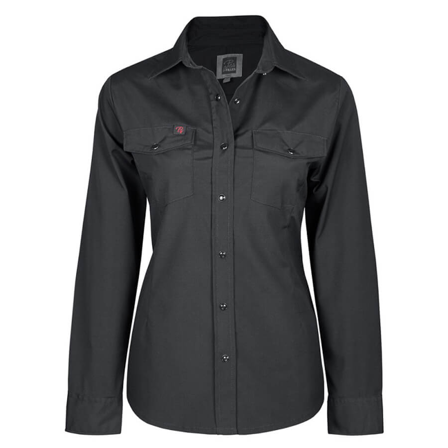 black ladies stretch work shirt