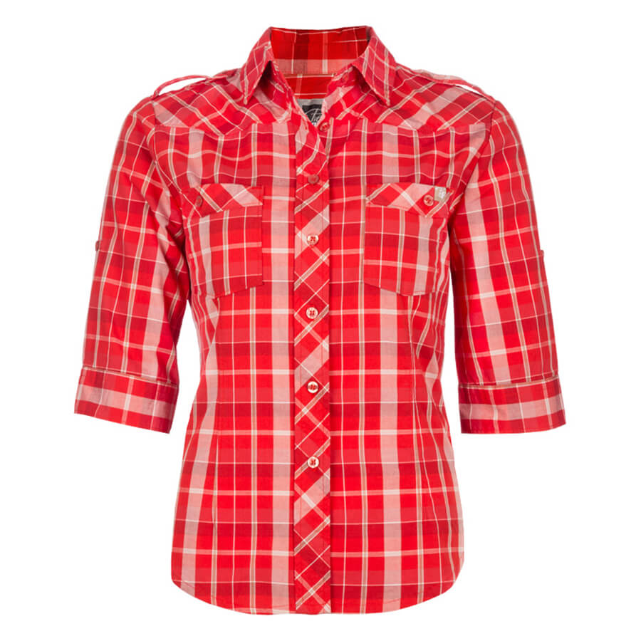 Women 39 s plaid shirt direct workwear Womens red tartan plaid shirt
