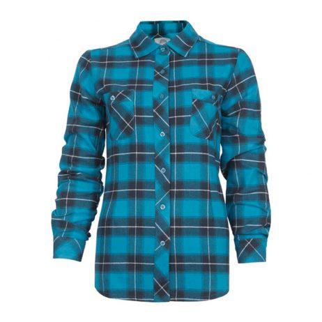 blue plaid flannel ladies shirt