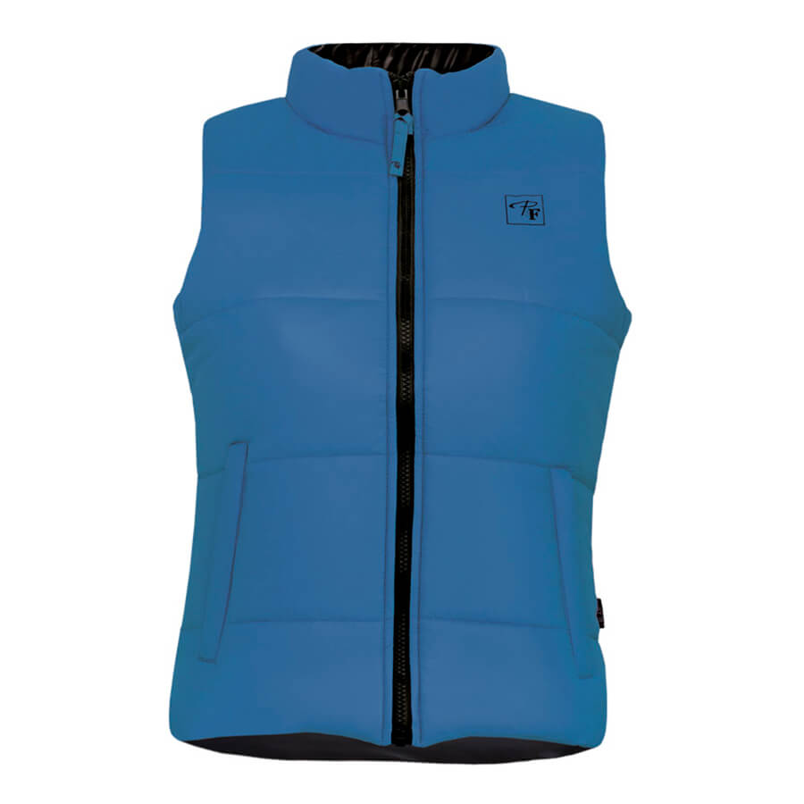 blue reversible insulated ladies vest