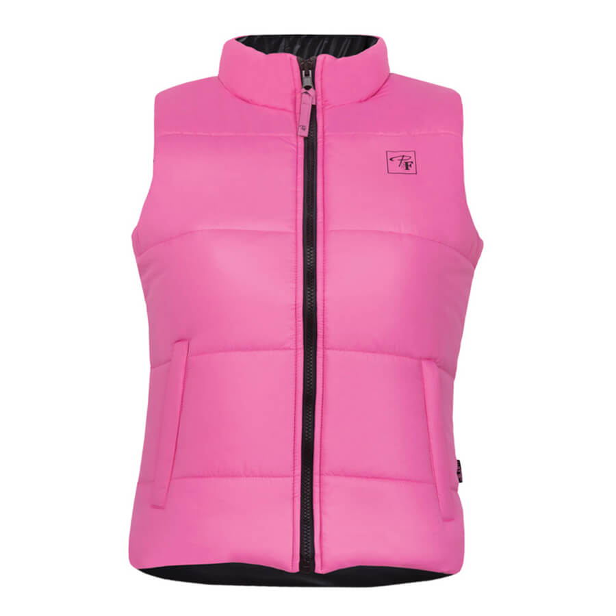 pink reversible insulated women's vest