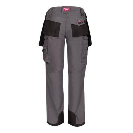 women's multi pocket work pant rear view