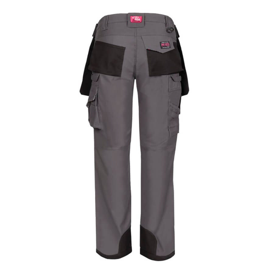 women's multi pocket work pant rear view